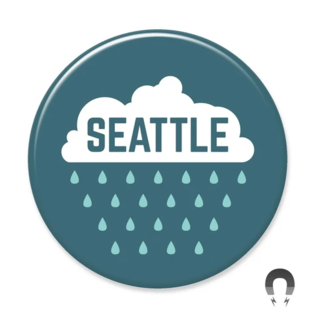 Badge Bomb Seattle Raincloud Magnet