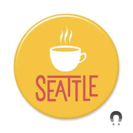 Badge Bomb Seattle Mug Magnet