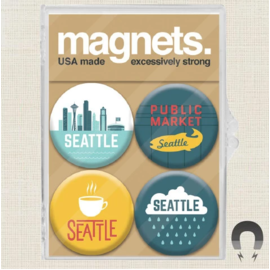 Badge Bomb Seattle Magnet Pack