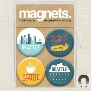 Badge Bomb Seattle Magnet Pack