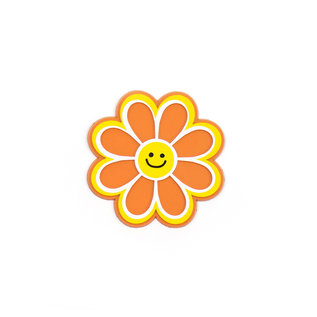 Seltzer Smiling Daisy Retro Rubber Magnet