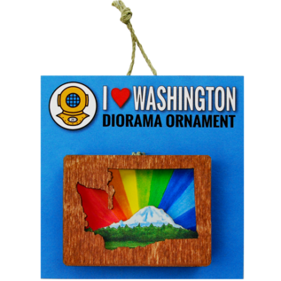 20 Leagues Rainier Rainbow Ornament