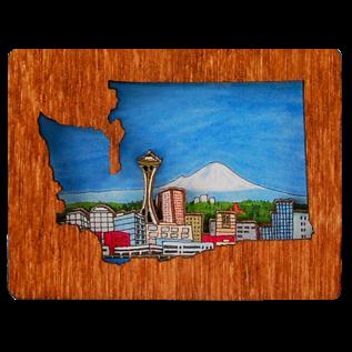 20 Leagues Seattle Skyline Magnet