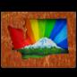 20 Leagues Rainbow Rainier Magnet