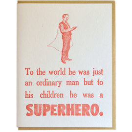 Zeichen Press Father's Day -  Superhero