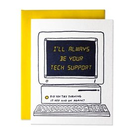 Ladyfingers Letterpress Parent Card - Tech Support