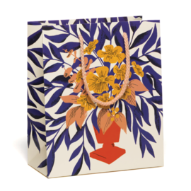Red Cap Cards Abundant Flowers Gift Bag
