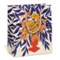 Red Cap Cards Abundant Flowers Gift Bag