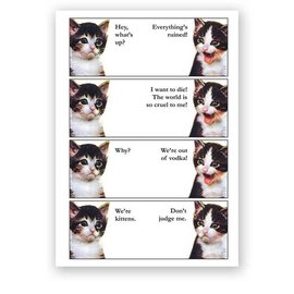 Mincing Mockingbird Greeting Card - We're Out Of Vodka Kittens