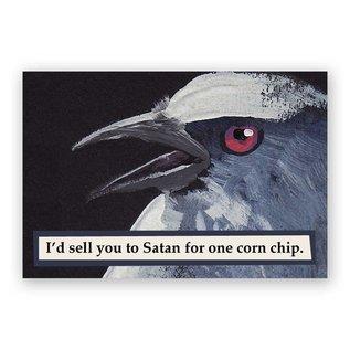 Mincing Mockingbird Corn Chip Magnet