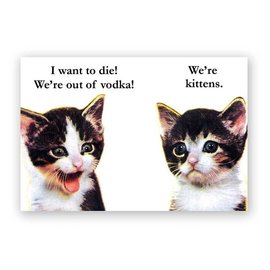 Mincing Mockingbird Vodka Kittens Magnet