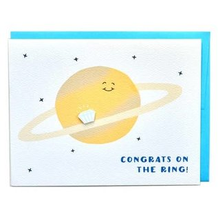 Cracked Designs Wedding Card - Saturn Ring