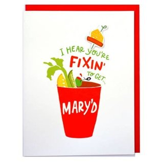 Cracked Designs Wedding Card - Fixin' to Get Mary'd