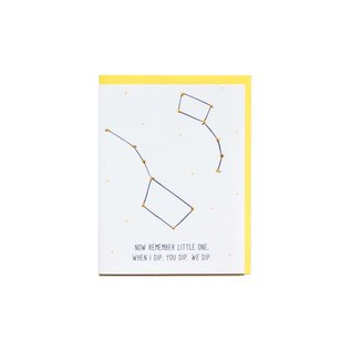 Cracked Designs Greeting Card - Little Dip