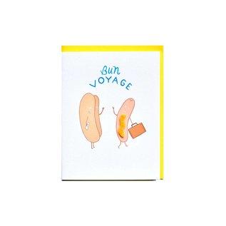 Cracked Designs Greeting Card - Bun Voyage