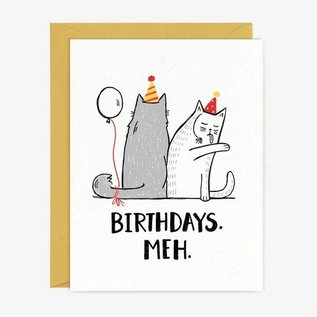 Paper Pony Co. Birthday Card - Meh Cats