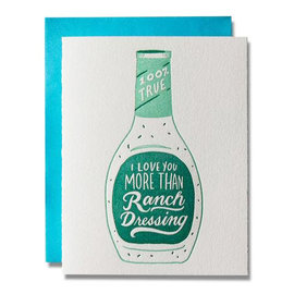 Ladyfingers Letterpress Love Card - Ranch Dressing