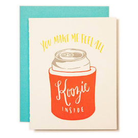 Ladyfingers Letterpress Love Card - Koozie Inside