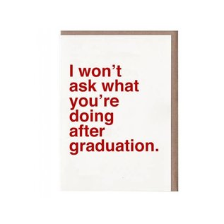 Sad Shop / Katie Davis Graduation Card - I Won't Ask