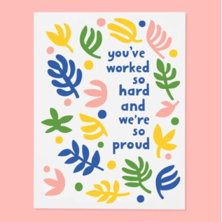 The Good Twin Congrats Card -  Worked So Hard