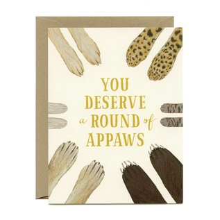Yeppie Paper Congrats Card - Round of Appaws