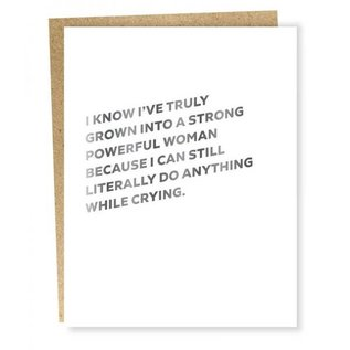 Sapling Press Greeting Card - Powerful Woman