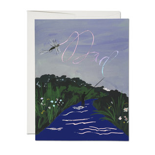 Red Cap Cards Father's Day - Fly Fishing Dad