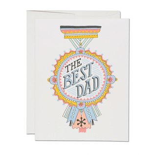 Red Cap Cards Father's Day - Dad Medal