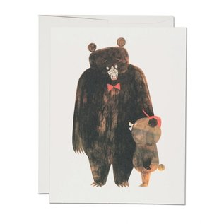Red Cap Cards Father's Day - Daddy Bear