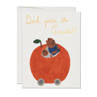 Red Cap Cards Father's Day - Orange Car