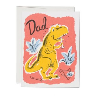 Red Cap Cards Father's Day - Dinosaur Dad