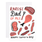 9th Letter Press Father's Day - Rarest Dad