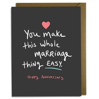 Kat French Design Anniversary Card - Easy Marriage