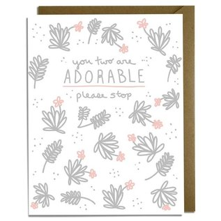 Kat French Design Wedding Card - Please Stop