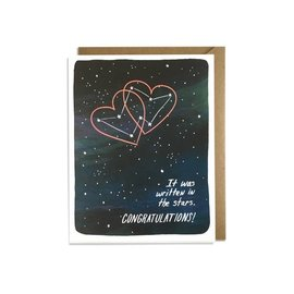 Kat French Design Wedding Card - Written in the Stars
