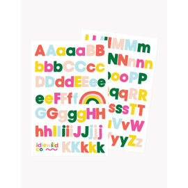 Idlewild Bright Sans Alphabet Sticker Sheets