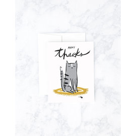 Idlewild Thank You Card - Many Thanks Cat