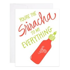 9th Letter Press Love Card - Sriracha