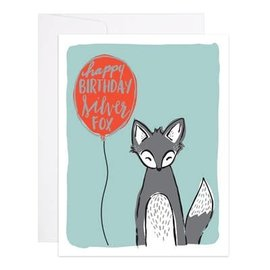 9th Letter Press Birthday Card - Silver Fox