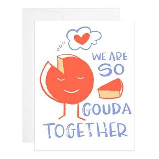 9th Letter Press Love Card - Gouda Together
