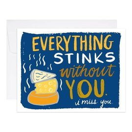 9th Letter Press Greeting Card - Everything Stinks