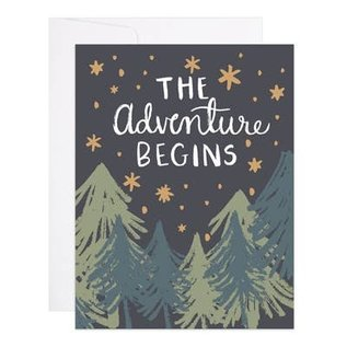 9th Letter Press Greeting Card - Adventure Begins