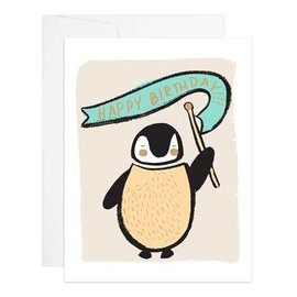 9th Letter Press Birthday Card - Penguin