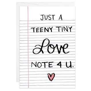 9th Letter Press Tiny Card - Teeny Tiny Love Note