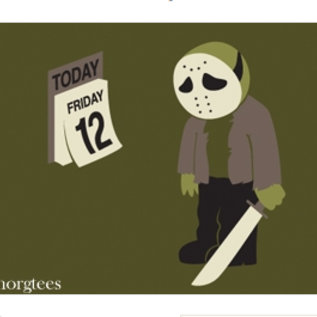 Ephemera Friday the 12th Magnet