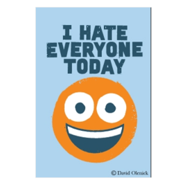 Ephemera I Hate Everyone Today Magnet