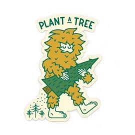 Ello There Bigfoot Tree Planter Sticker
