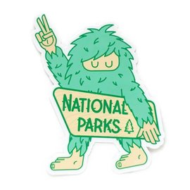 Ello There Bigfoot National Park Sticker
