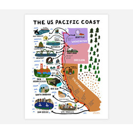 Buy Olympia One Lane Road Pacific Coast Print