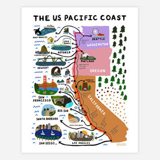 Buy Olympia One Lane Road Pacific Coast Print